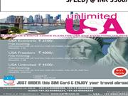 Unlimited USA for Voice & Data(4G speed) @ INR 3500/-