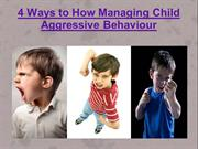 4 Ways to How Controlling Child Aggressive Behaviour
