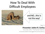 How To Deal With Difficult Employees