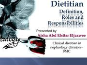 Dietitian definition, roles & responsibilities