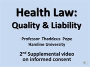 Supplement 2 to informed consent class