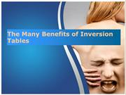 The Many Benefits of Inversion Tables