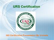 Standard ISO 9001 and TS 16949 Certification Cost ppt  - URSINDIA