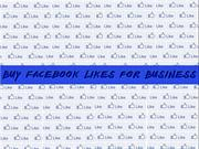 Buy Facebook Likes for Business