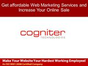 Get affordable Web Marketing Services and Increase Your Online Sale