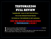Low Testosterone Booster For men - TESTOMAX200 FULL REVIEW
