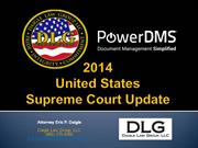 Webinar - 2014 Supreme Court Update