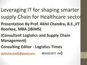 IT  in supply chain management for healthcareindustry