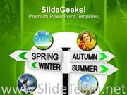 WELCOME ALL THE SEASONS POWERPOINT TEMPLATE