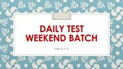daily test WB 21.9.14
