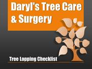 Tree Lopping Checklist