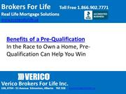 Benefits of a Pre-Qualification | Broker For Life