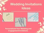Personalized Your Wedding & Engagement Invitations