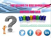 Top Reasons to Hire Bookkeeping Services for Your Business!