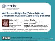 Web accessibility is not about conformance with standards