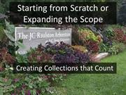 Session 8 Starting from Scratch or Expanding the Scope - Creating Coll
