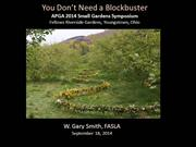 Session 10 You Don't Need a Blockbuster