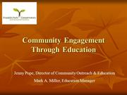 Session 12 Community Engagement Through Education