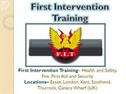 FIT- Health and Safety, Fire, First Aid and Security