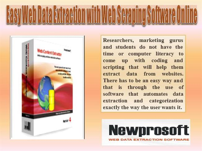 Easy Web Data Extraction With Web Scraping Software Online