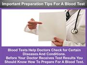 Important Preparation Tips For A Blood Test