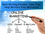 Best Writing Forums - How They Help Writers Stay Motivated?