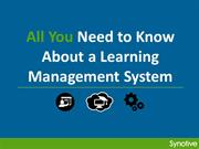 All You Need to Know About a Learning Management System