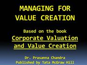 MANAGING FOR VALUE CREATION (UPDATED)