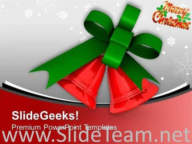 Jingle Bells For This Christmas Powerpoint Template Powerpoint Template