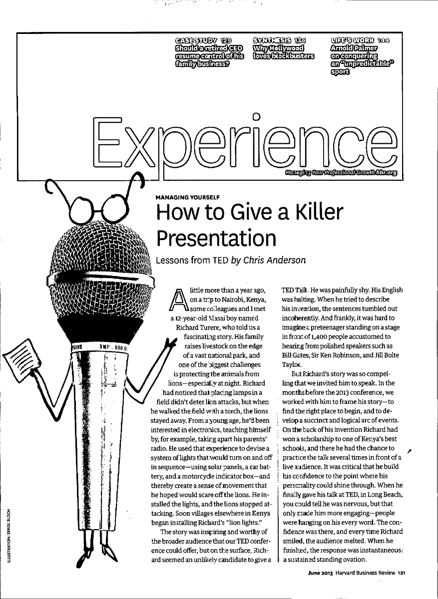how to give a killer presentation chris anderson pdf