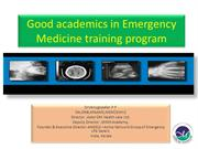DNB Emergency Good academics in Emergency medicine training progam