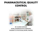 PHARMACEUTICAL QUALITY CONTROL; micellaneous tests