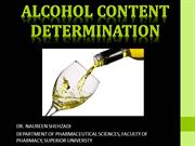 ALCOHOL CONTENT DETERMINATION