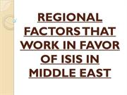 FACTORS THAT WORK IN FAVOR OF ISIS IN MIDDLE EAST