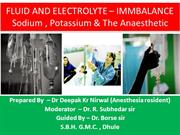 sodium potassium and the anaesthetic By Dr Deepak Kr Nirwal