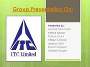 Group Presentation On ITC Limited