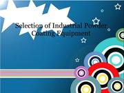 Selection of Industrial Powder Coating Equipment