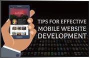 Tips for effective mobile website development