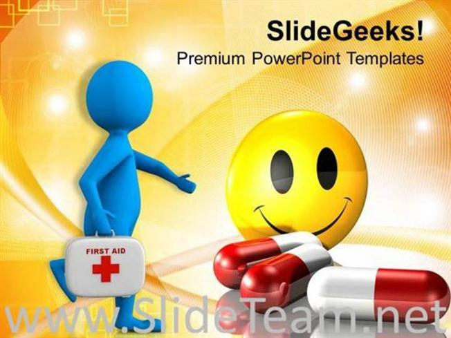 Running To Give First Aid Powerpoint Template Powerpoint Template