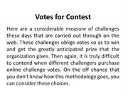 Votes for Contest