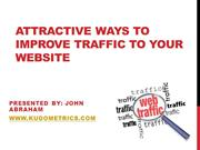 Attractive Ways to Improve Traffic to Your Business