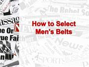 How to Select Men's Belts