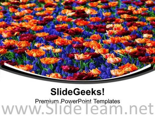 Valley Of Flowers Powerpoint Template Powerpoint Template