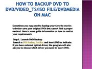 How to backup DVD to DVD/Video_TS/ISO fi