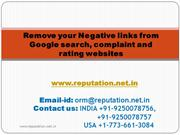Remove your Negative link from Google Search