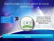 solubility enhancement by solid dispersion