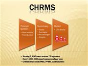 CHRMS Product Demo