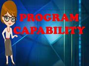 PROGRAM CAPABILITY (Hyperlink Presentation)