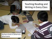 Teaching Reading and Writing in Every Class KOTESOL