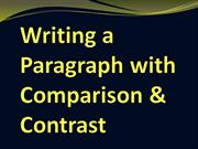 Writing a Paragraph with Comparison & Contrast